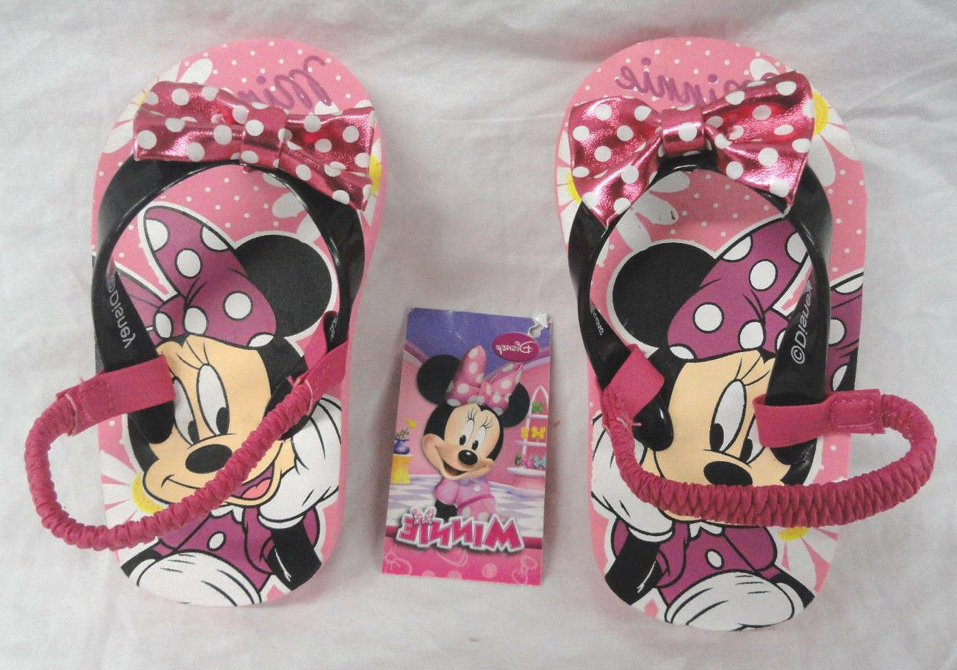 minnie mouse toddler girls flip flops w
