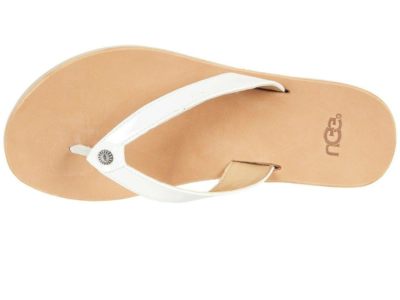 NEW Womens White Flip Tawney Sandals Slippers