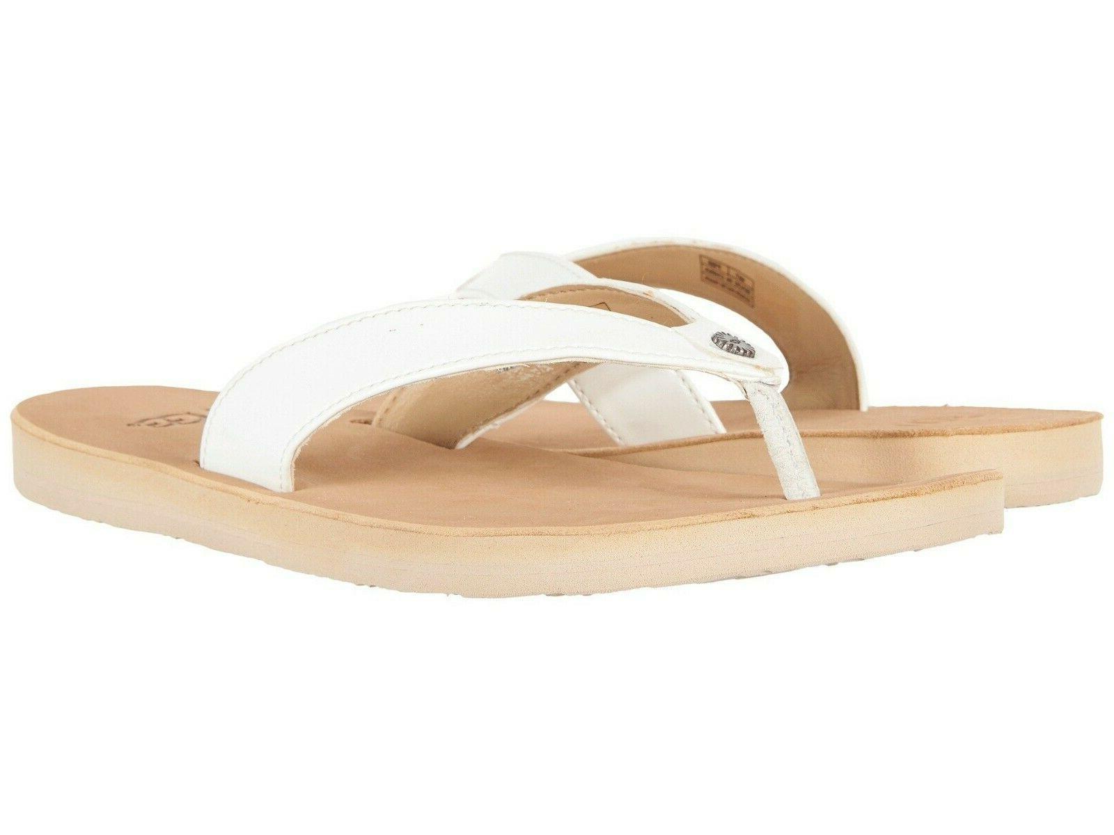 new brand womens white flip flops thong