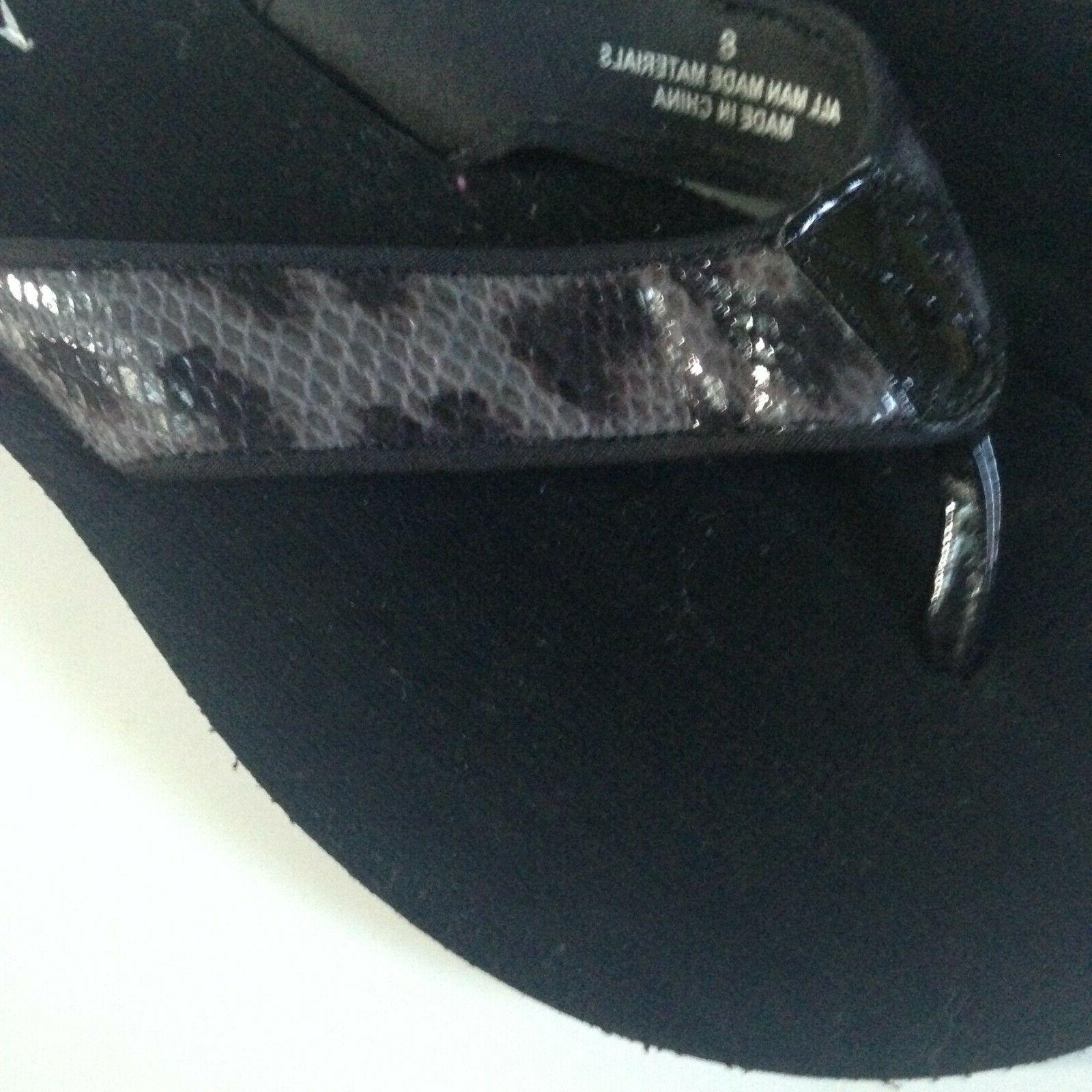 NEW! Flops Women's Size 8 Black Faux Rubber
