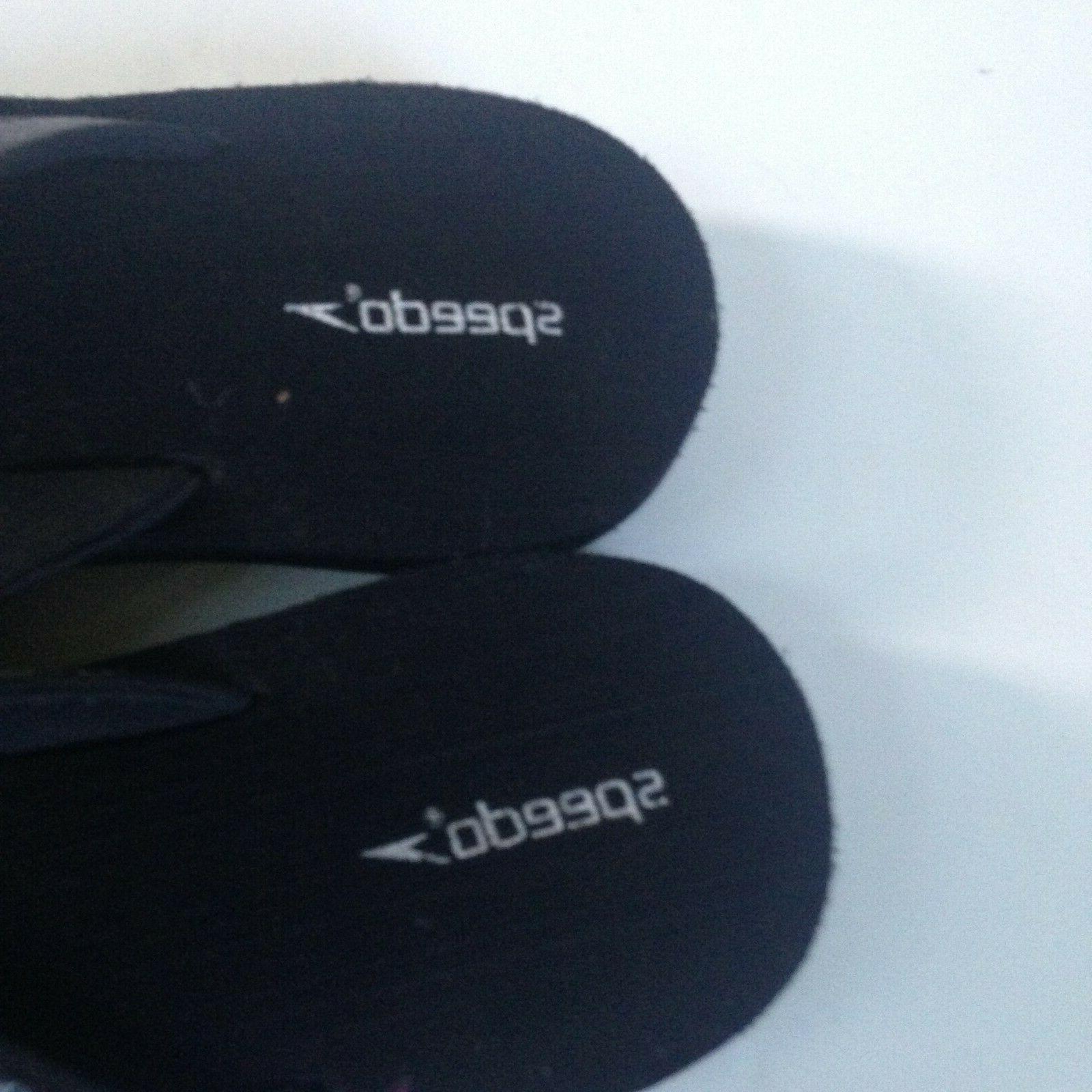 NEW! Speedo Flip Flops Women's 8 Black Faux Rubber Sole