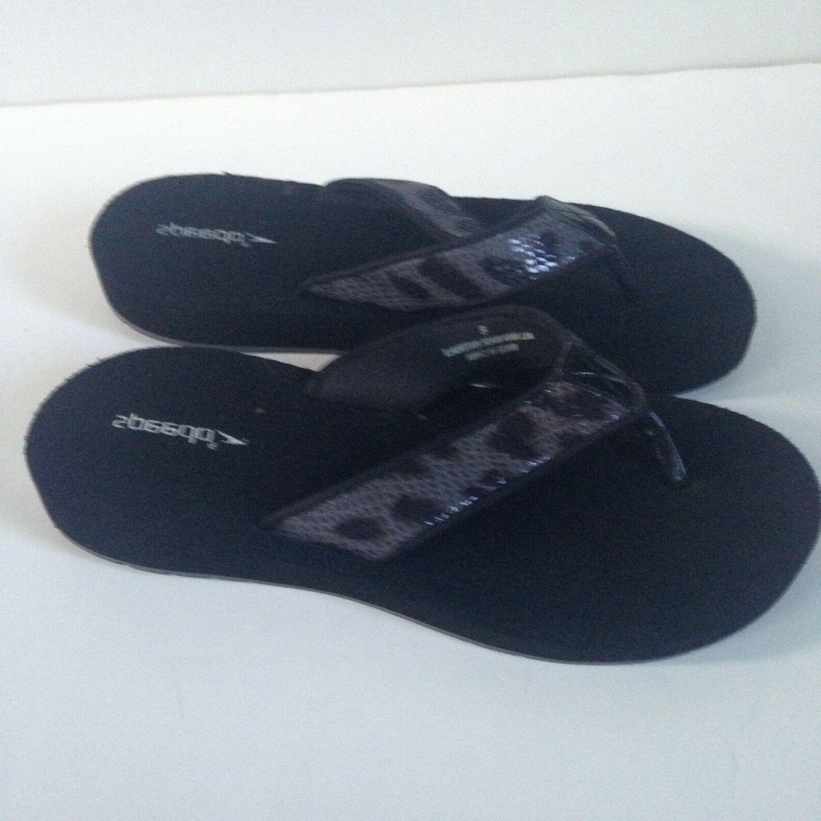 NEW! Women's 8 Gray Black Faux Rubber Sole