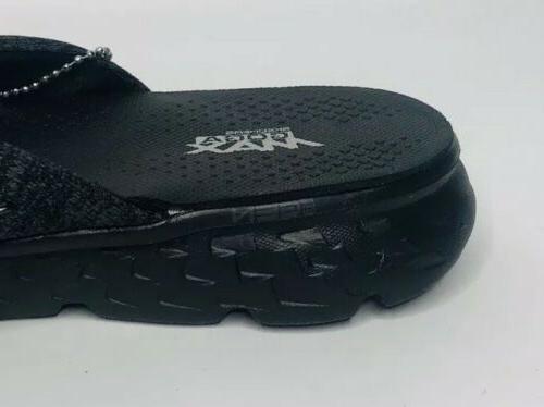 NEW Skechers GOGA Black Comfort Flip Flops Sandals Amputee Only