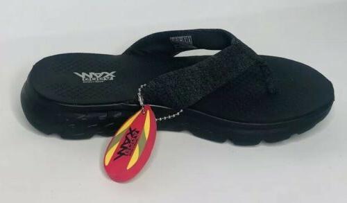 NEW Skechers Black Comfort Sandals Shoe
