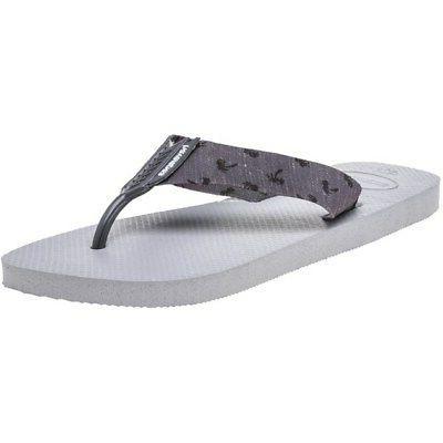 new mens gray urban basic textile sandals