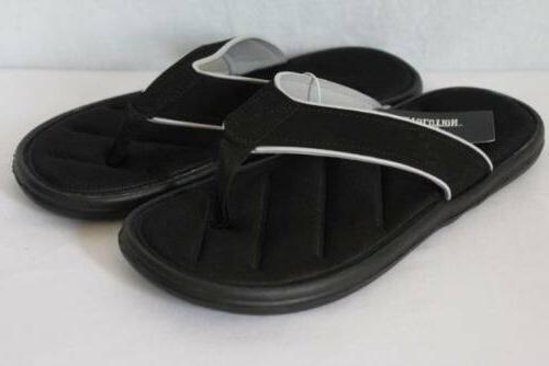 new mens sandals medium 9 black flip