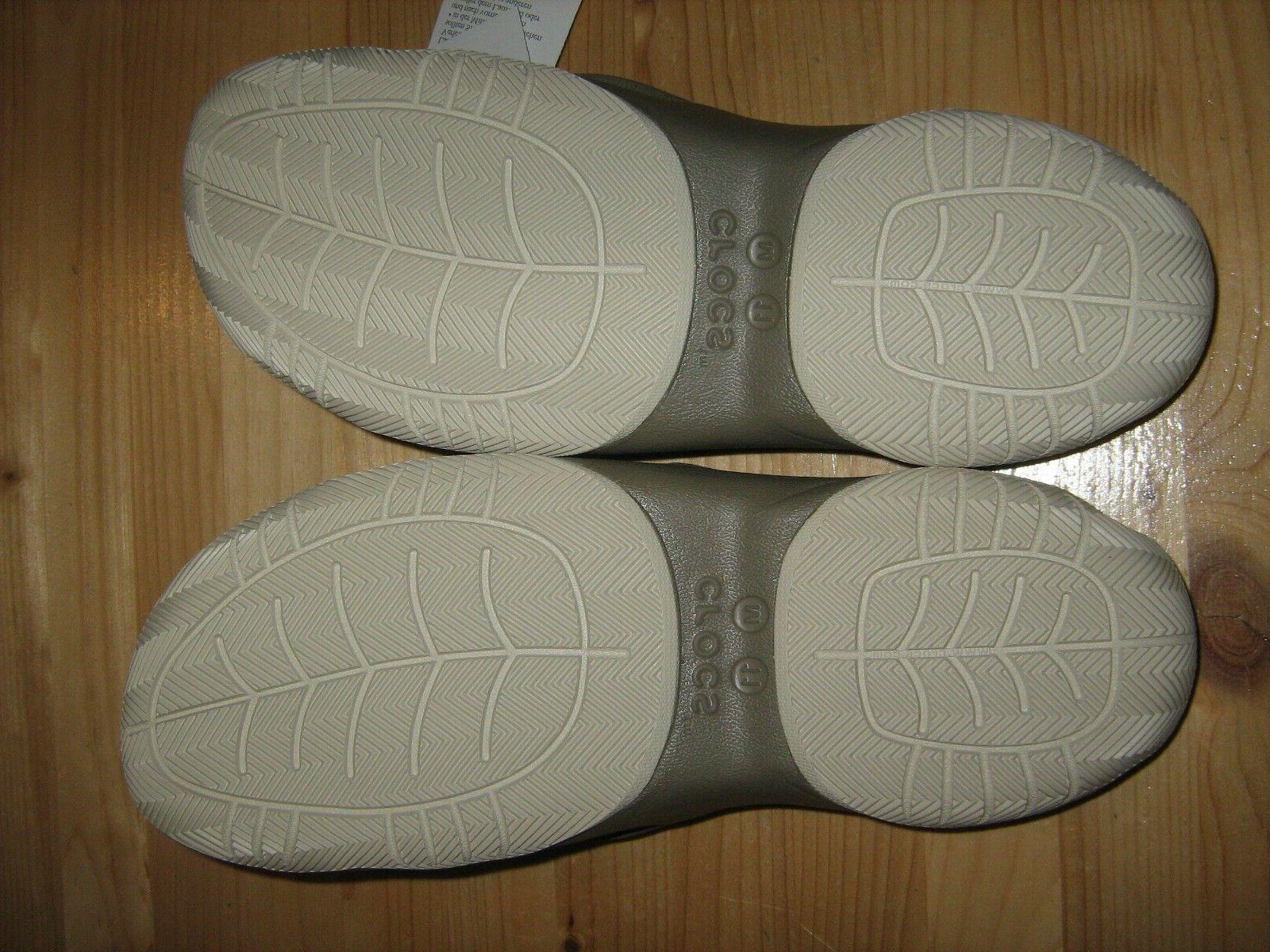NEW Mens Khaki Stucco Crocs Deck Flip 204961-26P