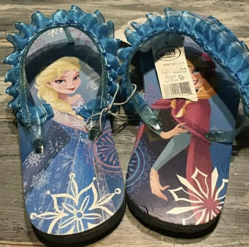 new nwt frozen flip flops elsa anna