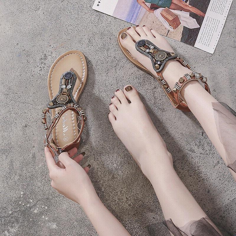 New Gladiator Shoes Flip Flat T Strap Size Strappy