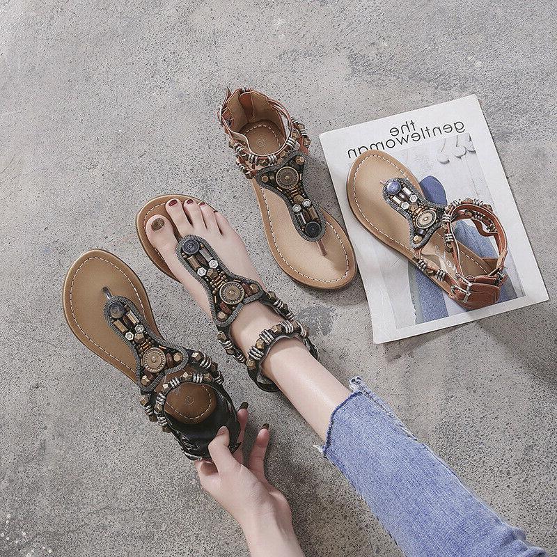 new women gladiator sandals shoes thong flip