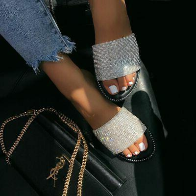 new women s open toe jeweled rhinestone