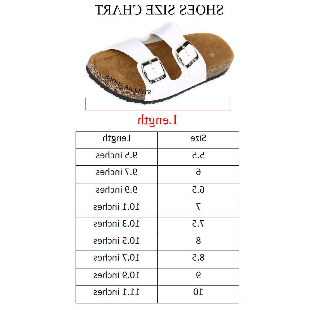 NEW Slide Buckle T-Strap Footbed Platform Flip Sandals