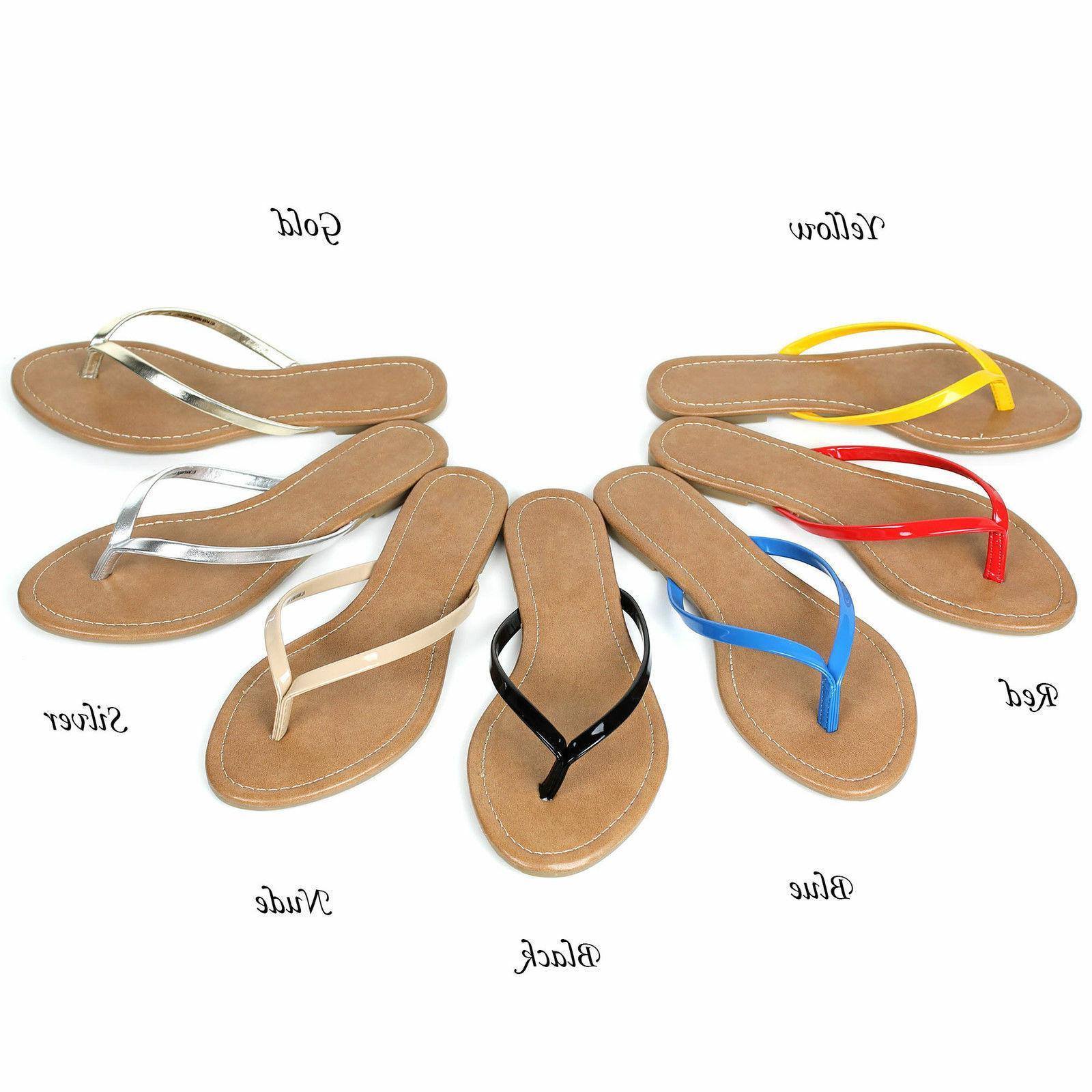 NEW Womens Comfort Casual Thong Flat Flip Flops Sandals