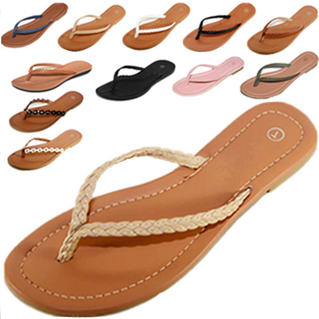 new womens summer comfort casual thong flat
