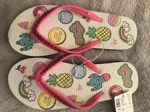 nwt flip flops girls size 2 3