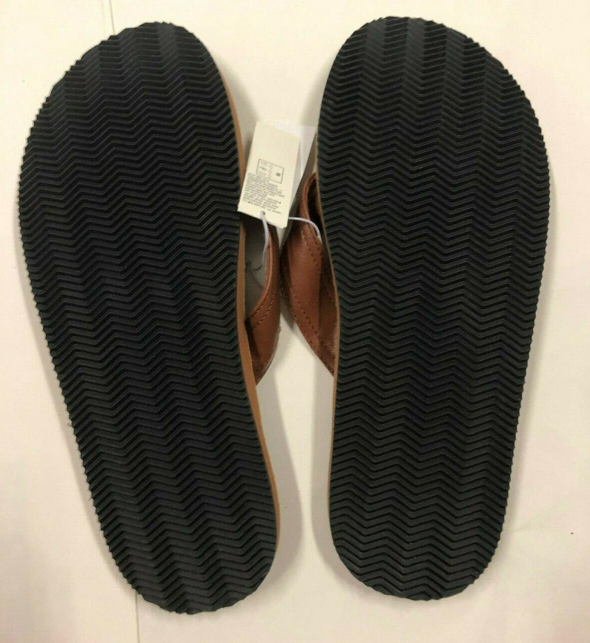 Nwt Brown Leather Flip Flops 6 7