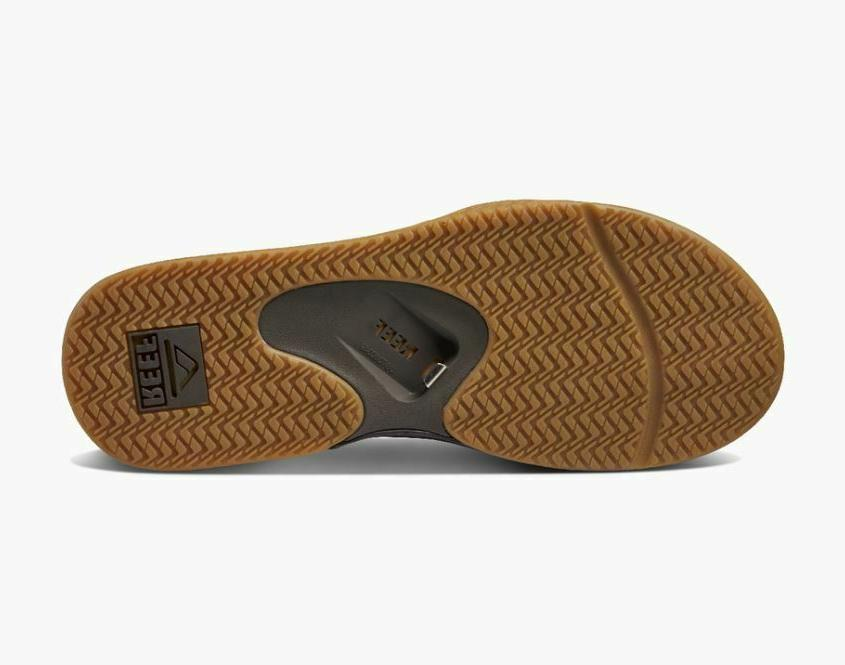 NWT Mens REEF Fanning Flip Flops Sandals 10 12 Brown NEW WITH $60
