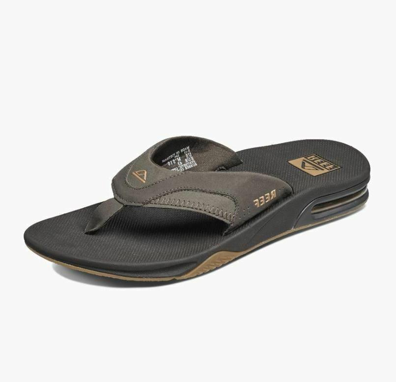 nwt mens fanning flip flops sandals 8