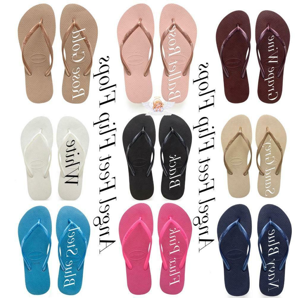 Original HAVAIANAS Flip Flops Women Slim Various Colors