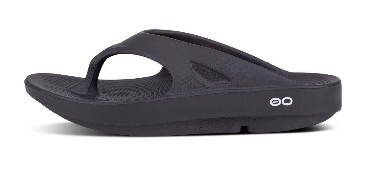 🇺🇸OOFOS Flop Recovery BLACK