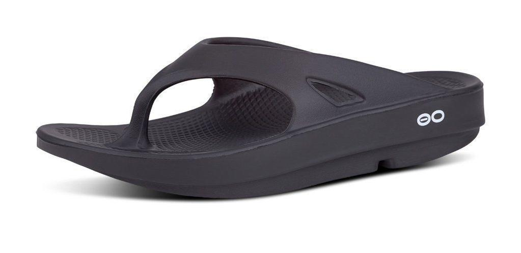 🇺🇸OOFOS ORIGINAL Sandals Flop Recovery Thong BLACK -