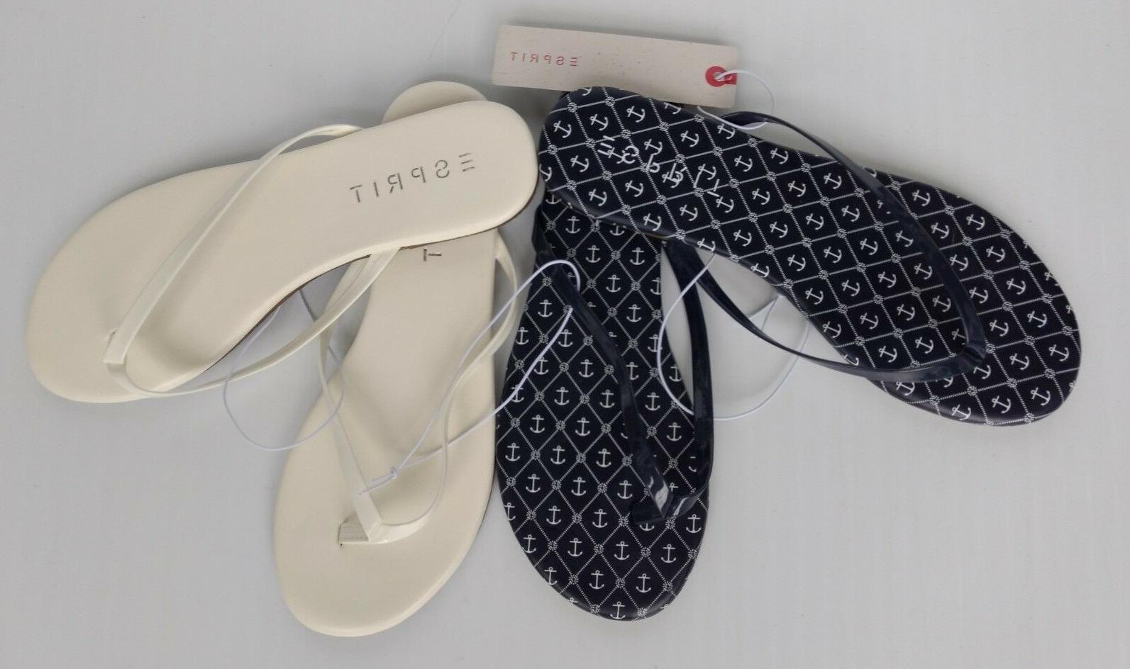 party flip flops flat thong sandals white