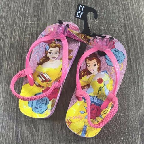 princess belle girls toddler flip flops back