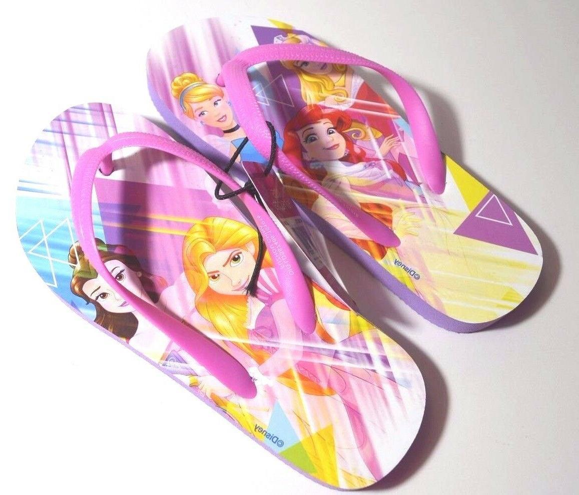 princess flip flops beach purple sandals nwt