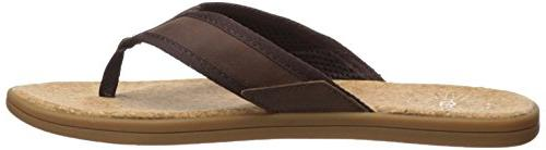 UGG Men's Seaside Flop, Chestnut, 13 US