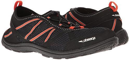 Speedo Seaside 5.0 Athletic Water Black/Orange,
