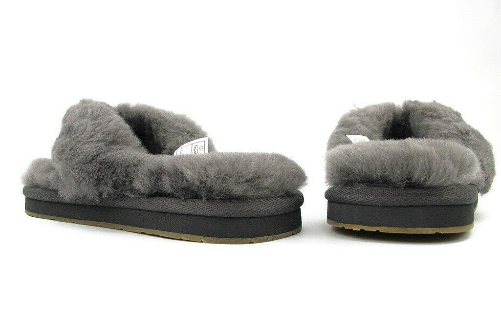UGG Flops Shoes Bow Grey Pink Natural