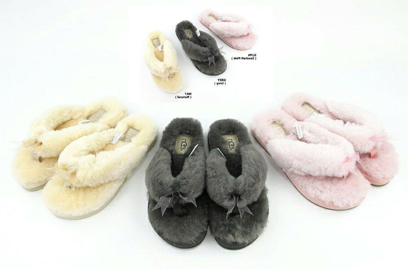 soft fluff flip flops slide slippers women