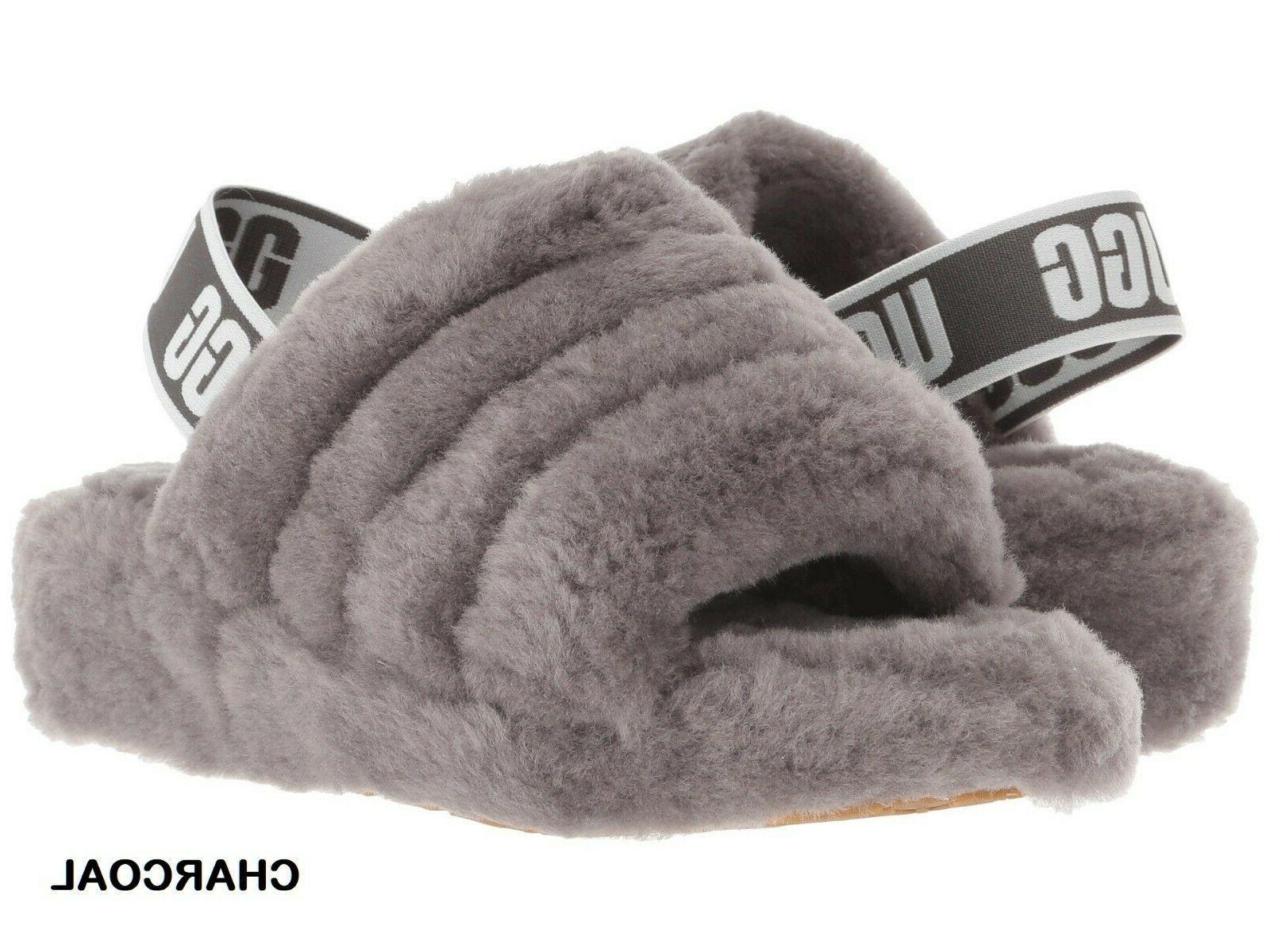 UGG Slide Shoes Sandal Black Leopard+