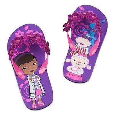 store doc mcstuffins flip flops girls nwt