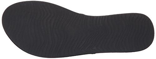 Women's Reef 'Slim Studded Flip Flop, 11 - Black