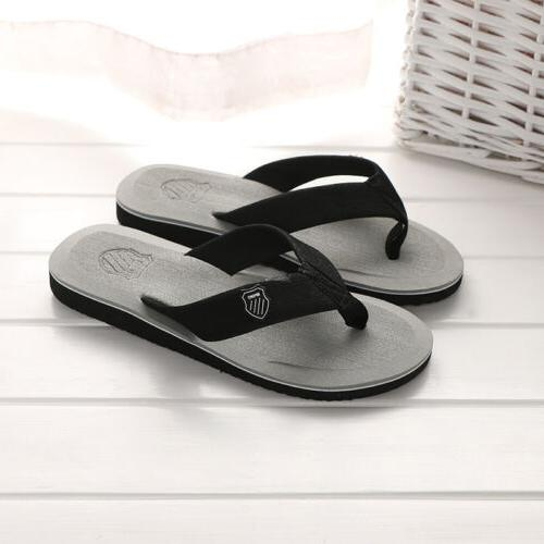 Summer Men's Flops Beach Slippers Shoes Cosy Massage