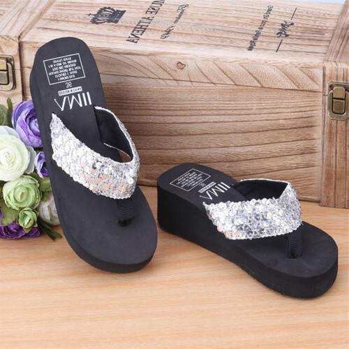 Summer Women Girls Sandals Sequin