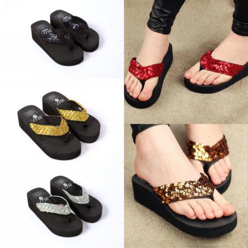 summer soft platform slippers women girls wedge