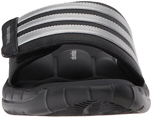 adidas Men's 3G Slide Sandal,Black/Silver/Grey,13