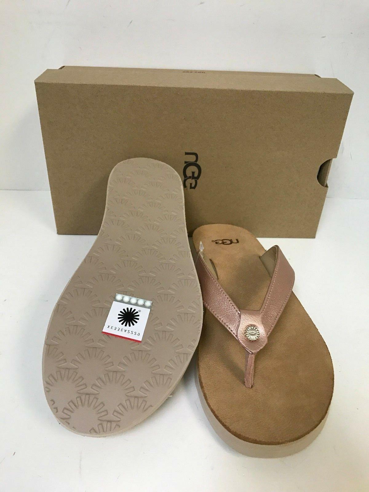 UGG Gold Leather Flip Sandal Women's