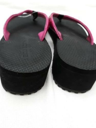 SPEEDO Thong Sandal Woven Textured Toe Yoga Wedge Flip Sz
