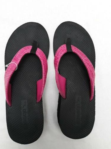 thong sandal pink woven textured toe post