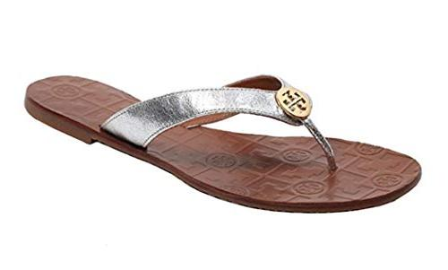 thora flip flops saffiano leather
