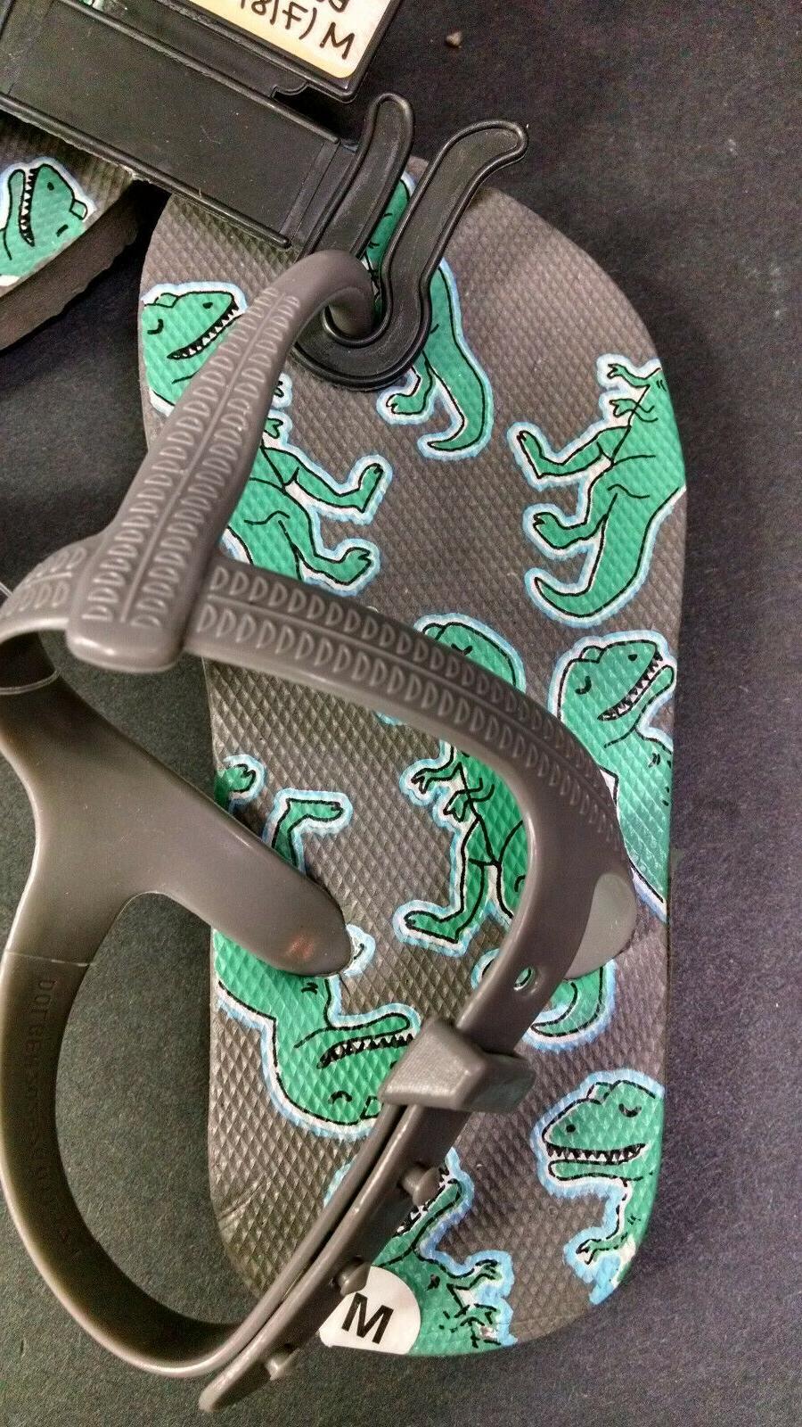 Dollar Gray Dinosaur Flops,