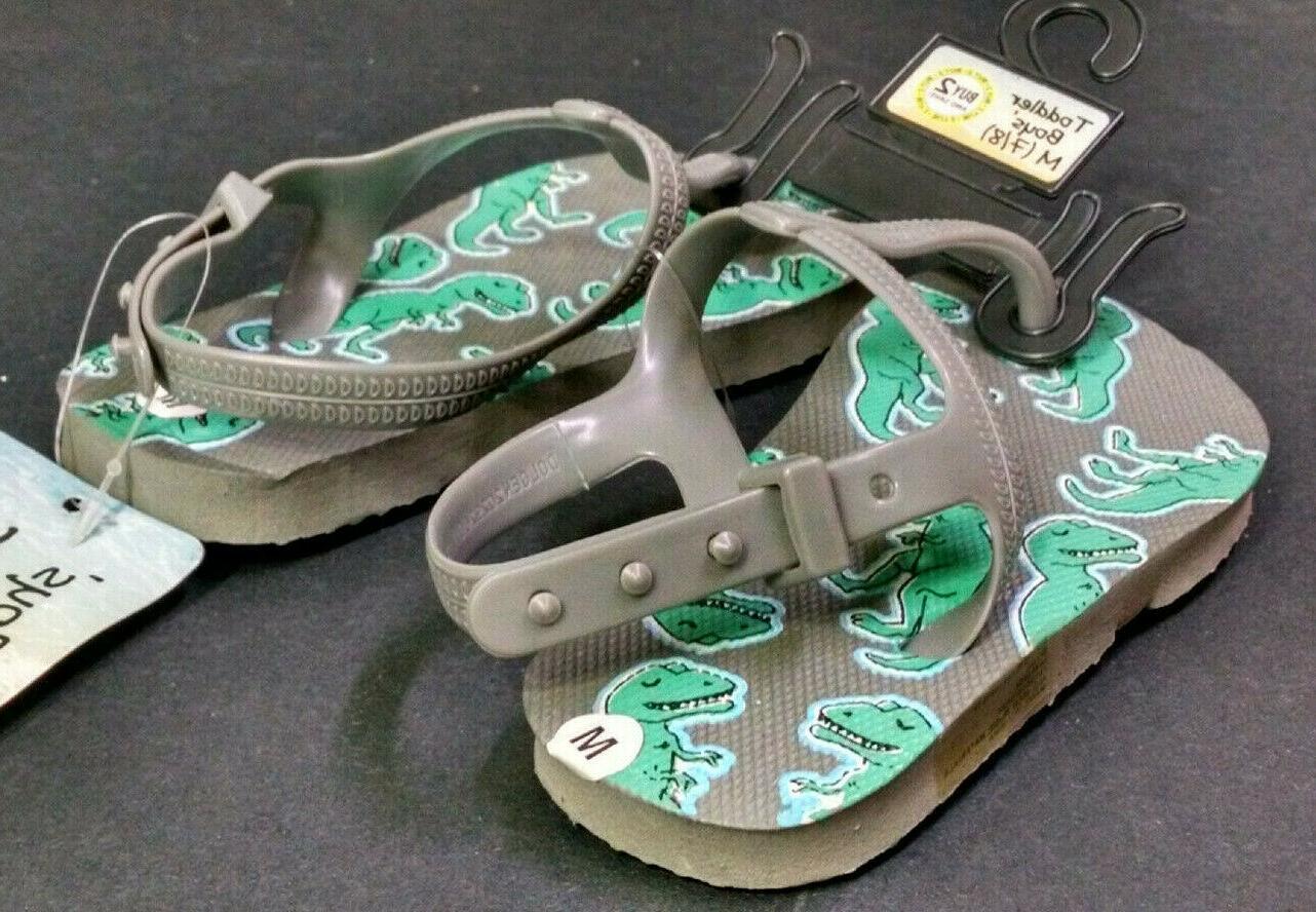 Dollar Toddler Gray Flip Flops, Size
