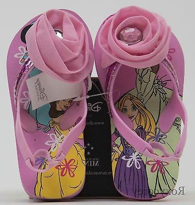 toddler girls pink flower princess thong flip