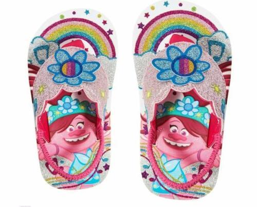 trolls beach flip flops toddler girls size
