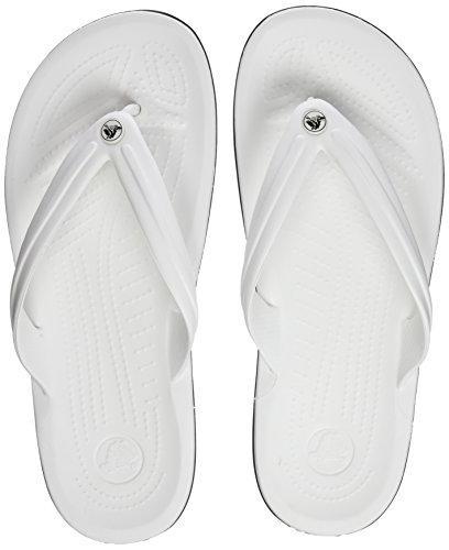 unisex crocband flip flop white 5 us