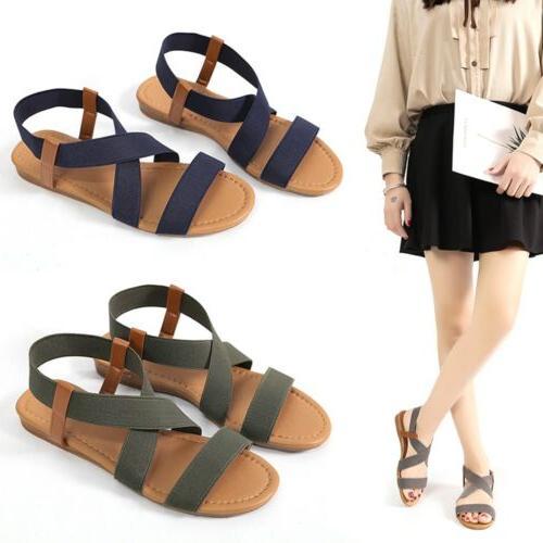 US Hot Flip Flops Women Bandages Beach Shoes Summer