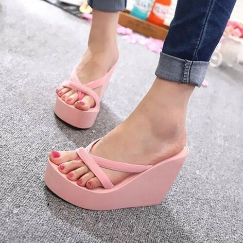 USA Summer Platform Thong Flip Sandals Slippers